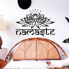 Small Picture 56x38cm India Yoga Namaste Lotus Design Vinyl Wall Stickers