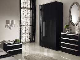 Bedroom Furniture High Gloss Black Photo   3