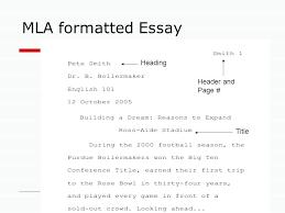 Essay Formats Mla Formatting For Essays Proper Format Essay Sample