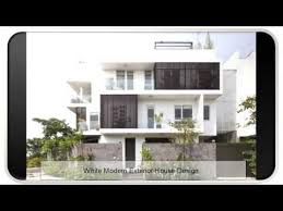 Small Picture White Modern Exterior House Design YouTube