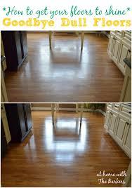 how to shine dull wood floor