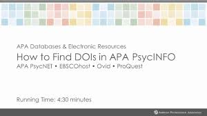 Apa Style Blog Digital Object Identifier Doi