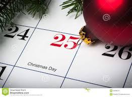 Close Up Of December 25th Calendar Stock Photography - Image: 35288572