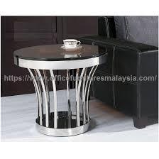 small round coffee table meja kopi bulat ukuran meja kopi malaysia kota kemuning shah alam serdang