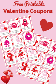 valentine coupons for kids