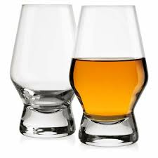 crystal clear whiskey scotch glasses set of 2 liquor drinking bourbon glassware