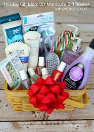 holiday gift idea diy manicure gift basket