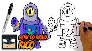 Cuenta que comparte dibujos nsfw de brawl stars y de otros juegos. How To Draw Brawl Stars Rico Step By Step Tutorial Youtube