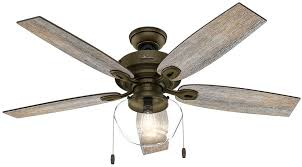 hunter 52 newsome premier bronze ceiling fan with light