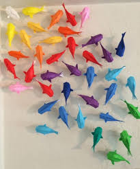 diy rainbow origami koi wall art tutorial from watchmeflyy for  on paper wall art tutorial with diy rainbow origami koi wall art tutorial from watchmeflyy for