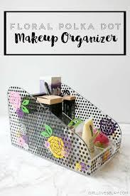 fl and polka dot acrylic makeup case