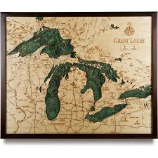 White Lake Ontario Depth Chart The Great Lakes Large