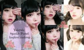 sparkly simple pastel gyaru makeup tutorial inspired by yulayula you