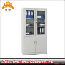 half height glass door lockable steel bookcase office file cabinet