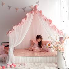 KIDS HOUSE BED   FRILL CANOPY SERIES   PINK - PETITE MAISON GLOBAL SITE