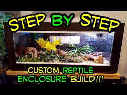 step by step custom reptile enclosure build