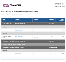 print invoices packing lists woocommerce packing list middot view a sample pick list