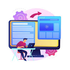 Free Vector   Microsite development abstract concept illustration. microsite web development, small internet site, graphic design service, landing page, software programming team .