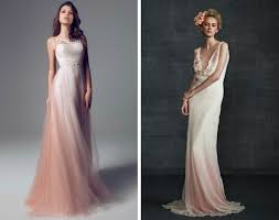 dip dye ombre wedding dresses ombre wedding dress dip dye and