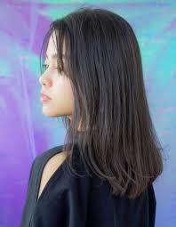 切りっぱなしセミディ 前髪なしhy 108 ヘアカタログ髪型ヘア