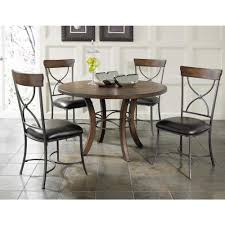 hilale furniture cameron dark grey metal x back dining chair