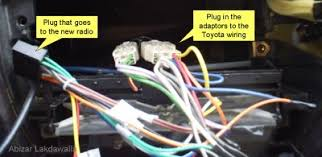 upgrading a car radio for a toyota corolla steps connecting the wiring harnesses