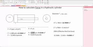 Pneumatic Cylinder Force Chart How To Calculate Force In A Hydraulic Cylinder