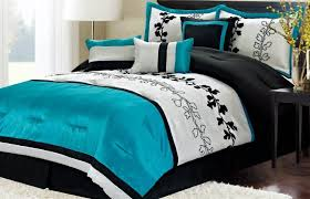 bedroom black and white comforter set stainless steel arch lamps bed linens animal print bedding