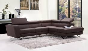 real leather brown chic sectional caro ii lightbox moreview