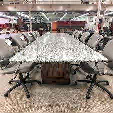 white walnut office furniture. Used 14\u0027 Granite Conference Table (White \u0026 Walnut) CTB1496-010 White Walnut Office Furniture