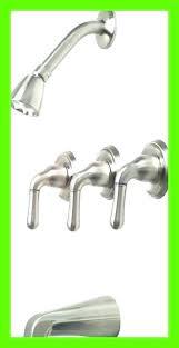 three handle bathtub faucet tub and shower brushed nickel 2 low flow han