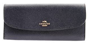 Coach F59949 Wallet in Crossgrain Leather BLACK at Amazon Women s Clothing  store