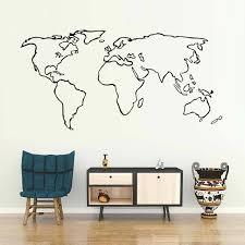 world map wall sticker india creative modern minimalism vinyl art decal for kids rooms office poster world map wall sticker