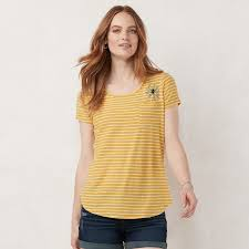 Kohls Womens Size Chart Lauren Conrad Petite Graphic Tee In 2019 Graphic Tees