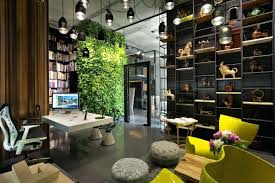 eco office. Outstanding Aesthetic Office Interior Decorating Ideas With Wall Garden Minimalist Trident Eco Green Paper