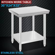 Used Commercial Kitchen Prep Tables Industrial Work Tables Steel