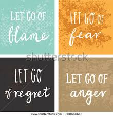 Short Encouraging Quotes Adorable Inspirational Encouraging Quote Let Go Blame Stock Vector Royalty