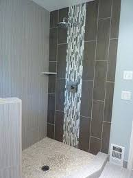 glass accent tile in corner shower stall bathrooms how to build a glass accent tile glass