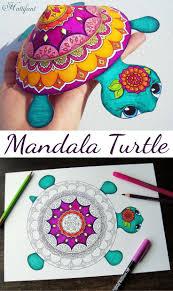 25+ unique Mandala turtle ideas on Pinterest   Adult coloring ...