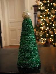 Ruffled Foam Sheets U0026 Glitter Christmas Tree Cones DIY  HometalkFoam Christmas Tree Crafts