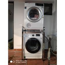 Giá bán Kệ để máy giặt và máy sấy inox 304 hộp 400x400cm- (để vừa tất cả  các loại máy giặt và máy sấy)