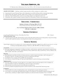 Nursing Resume Objective New Grad Resume For Your Job Application