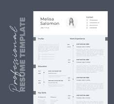 Modern Creative Resume Template Cv Template Professional Resume Template With Photo Word