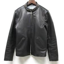 o roux o c crew alex studs single leather jacket s black studs single riders leatherette jacket to seek