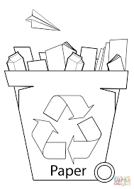 Small Picture Paper Recycling Bin coloring page Free Printable Coloring Pages