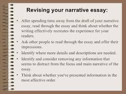 a narrative essay 7 revising your narrative essay