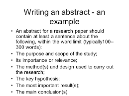 writing an abstract for research paper writing an abstract an scientific paper abstract example ex advanced technical communication ppt video online