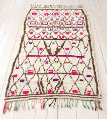 enchanting vintage moroccan rugs beautiful rug with ivory background and pattern in brown pink and purple