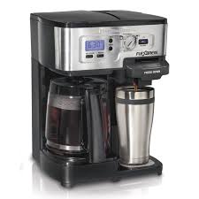Hamilton Beach Black Programable 2-Way Brewer Coffee Maker - Free Shipping  Today - Overstock.com - 15846137