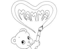 Disegno Orsetto Disegna Cuoricino Per La Festa Della Mamma Disegni